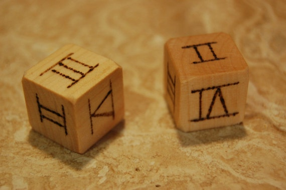 Items similar to Roman Numeral Wooden Dice on Etsy