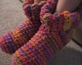 Crochet Children's Slippers Made to Order Christmas Gift for Kids Stocking Stuffer Choose Colors and Size