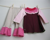 3T addie pant and eloise shirt magenta and pink ooak