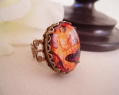 Steampunk Angel Butterfly Ring