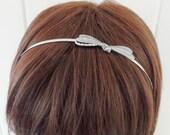 Steampunk Dragonfly Headband Metal Headband Silver Dragonfly