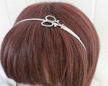 Steampunk Scissor Headband- Metal Headband- Silver Scissors
