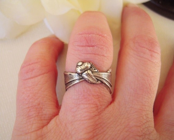 Steampunk Dragonfly Ring-  Adjustable- Sterling Silver Ox Finish