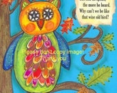 Owl Poster Print Perfect for Teacher & Classrooms