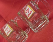 Vintage Dog and Suds Heavy Glass Mugs