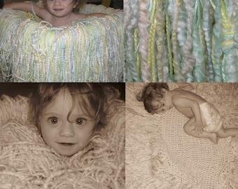 Tiny Tot Photo Prop Super Fringy Blanket
