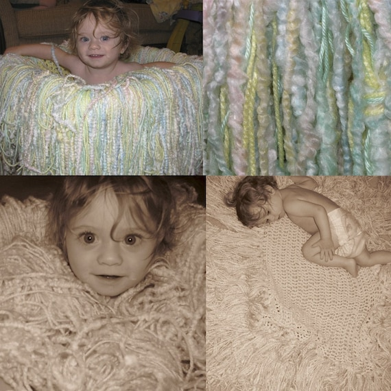 Tiny Tot Photo Prop Super Fringy Blanket