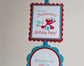 Elmo Banner Welcome Sign Sesame Street Birthday Party