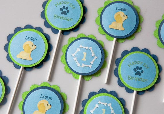 paw print cupcake toppers