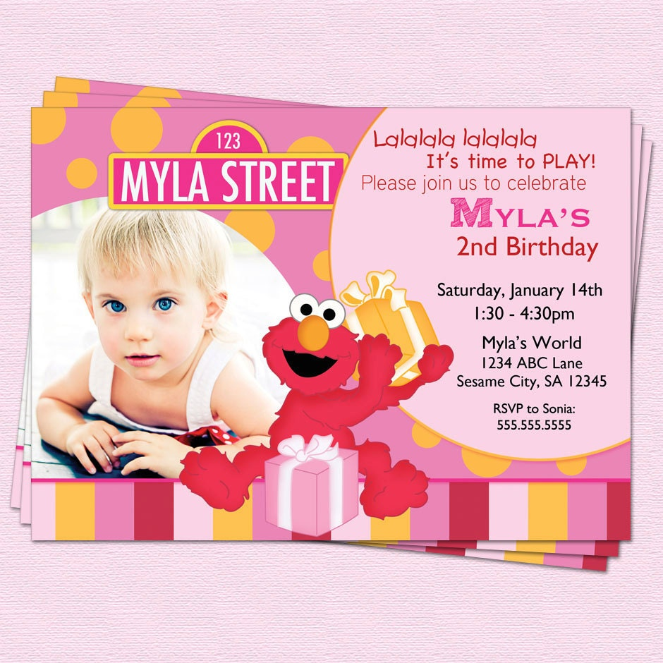 Elmo 1St Birthday Invitations absolutely amazing ideas for your invitation example