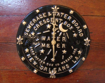 New Orleans Water Meter Cover Clock