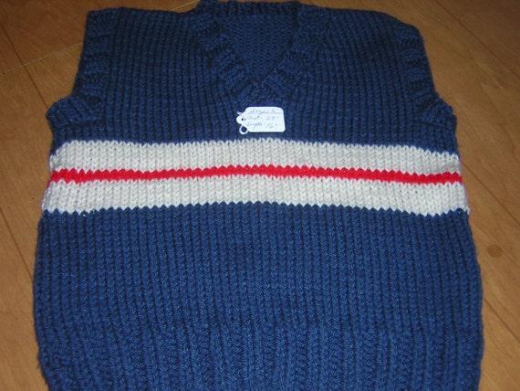 Hand knitted Childs V neck Vest
