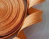 SALE orange spice art silk trim