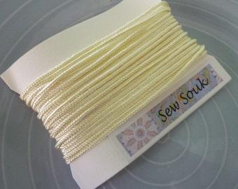 Moroccan Soutache or cord, 3mm, cream art silk