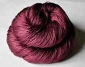 Burgundy ice   -  Silk Yarn Lace weight