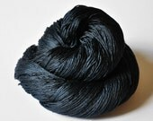 A dark storm is coming OOAK - Silk Yarn Lace weight