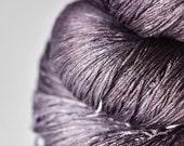 Gothic violet bouquet OOAK - Silk Yarn Lace weight