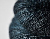 RESERVED for sally1965 - Dark storm is coming near OOAK - Tussah Silk Yarn Lace weight