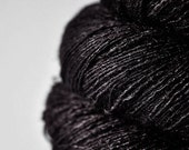 Raven in the night - Tussah Silk Lace Yarn