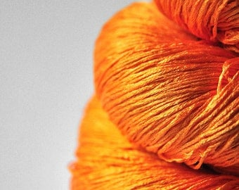 Burning orange - Silk Lace Yarn