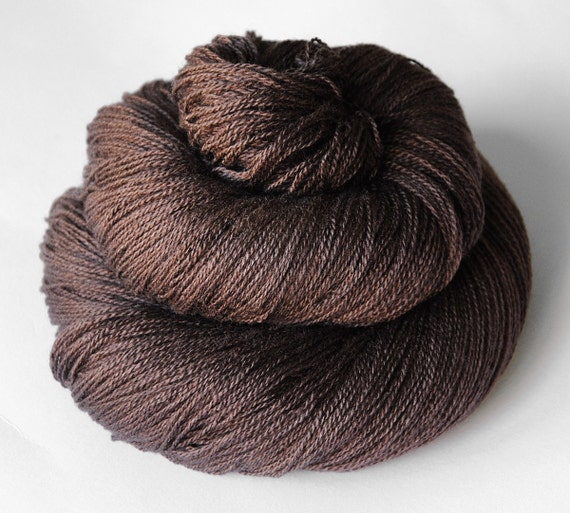 Boiling cacao - Silk/Merino Yarn Lace weight