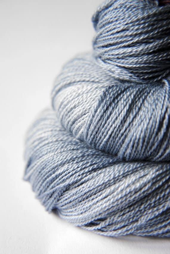 Blue Platinum - Silk/Merino Yarn Lace weight
