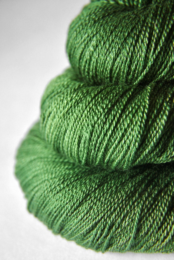 St. Patrick's day parade gone awry - Silk/Merino Yarn Lace weight