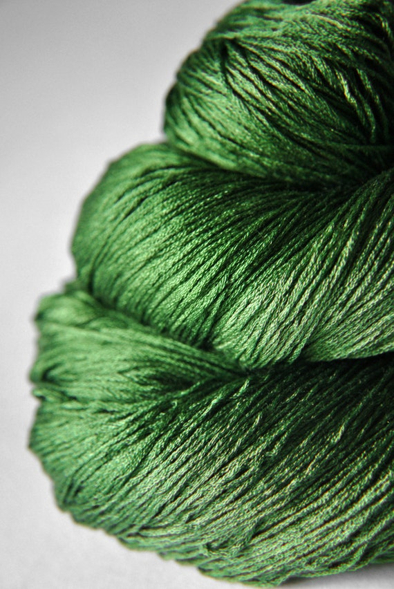 St. Patrick's day parade gone awry - Silk Yarn Lace weight
