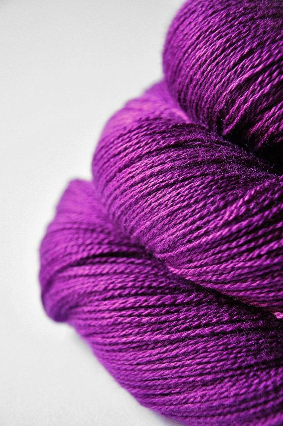 Love is poison OOAK - Silk/Merino Yarn Lace weight