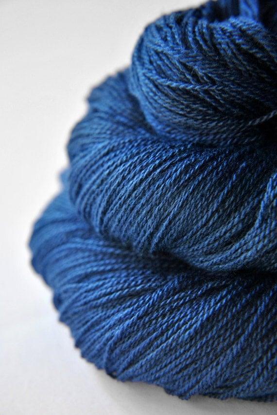 Ground sapphire - Silk/Merino Yarn Lace weight