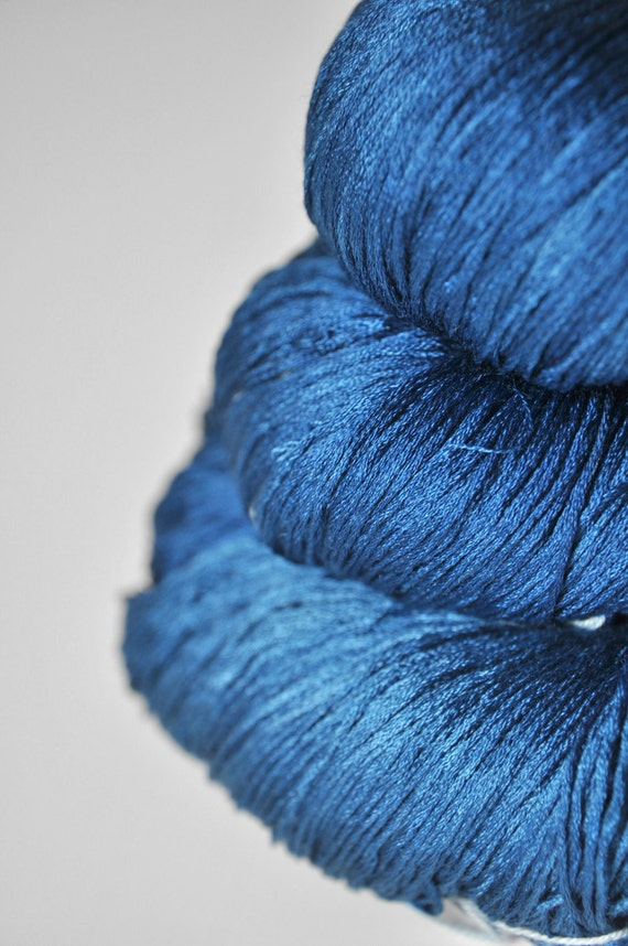 Ground sapphire - Silk Yarn Lace weight