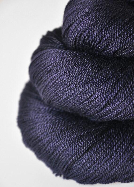 Black Mage OOAK - Silk/Merino Yarn Lace weight