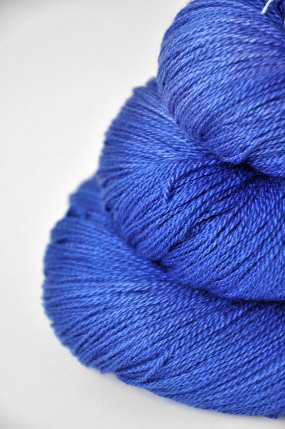 Living the Summertime Blues OOAK - Silk/Merino Yarn Lace weight