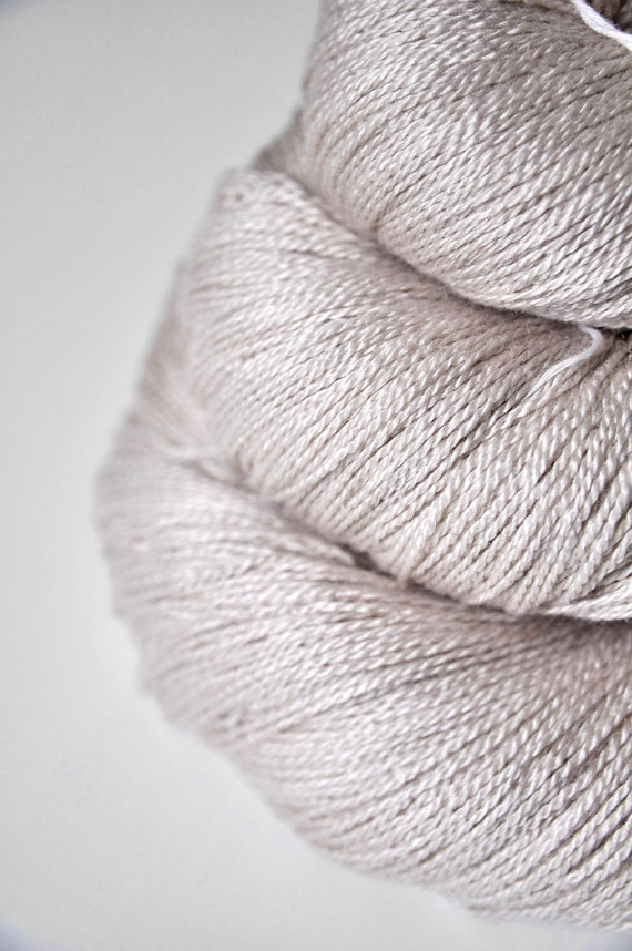 She sells sea shells OOAK - Silk/Merino Yarn Lace weight