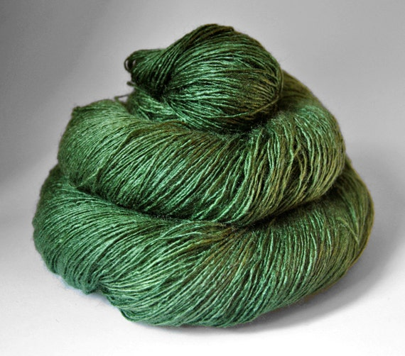 St. Patrick's day parade gone awry - Tussah Silk Yarn Lace weight