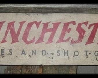 Vintage Winchester Rifles & Shotguns Trade Sign