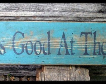 Primitive/Vintage Sign - Life is Good at The Lake - Several Colors Available