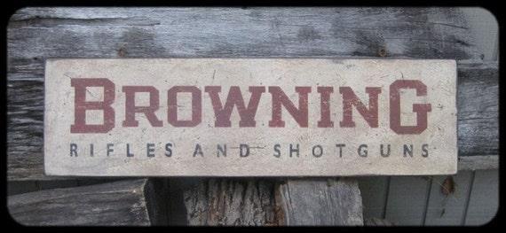 Vintage Browning Rifles & Shotguns Trade Sign