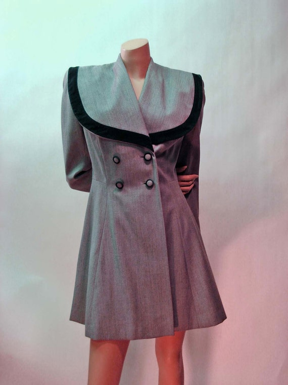 r e s e rt v e d // 1940s Lilli Ann Formal Jacket Tailored Fit Double Breasted SLIGHTLY SAILOR Look