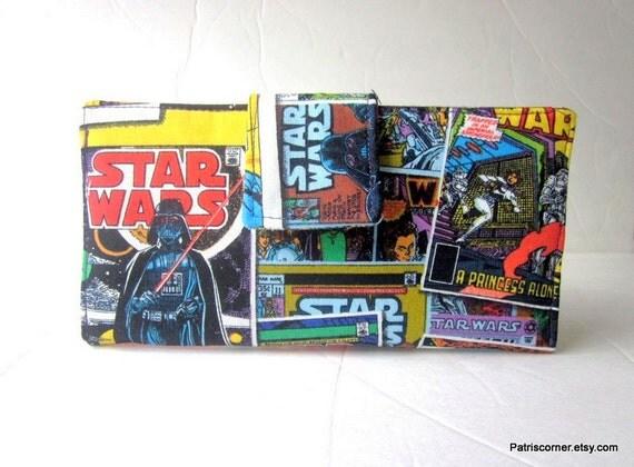 Handmade women wallet My comic book, favorite Princess Leia, Empire, Star wars,