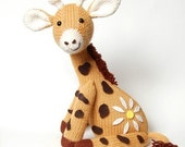 NEW PDF - Knitting Pattern for Jasmine the Giraffe - Instant Download