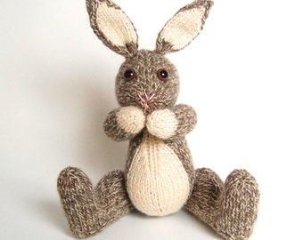 NEW PDF - Knitting Pattern for Boris the Bunny Rabbit - Instant Download