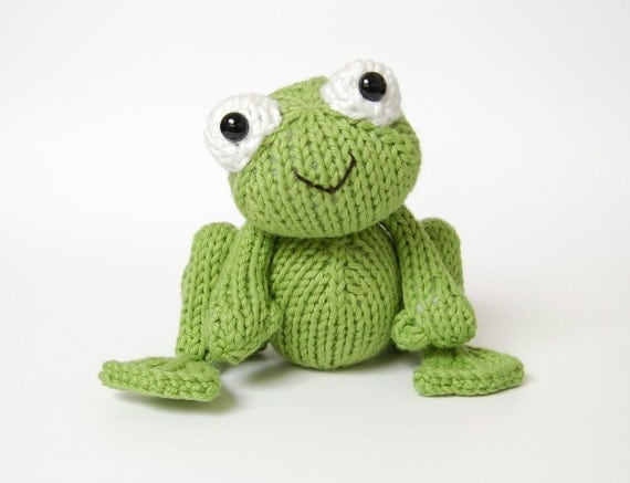 PDF Knitting Pattern for Frog Prince - Instant Download