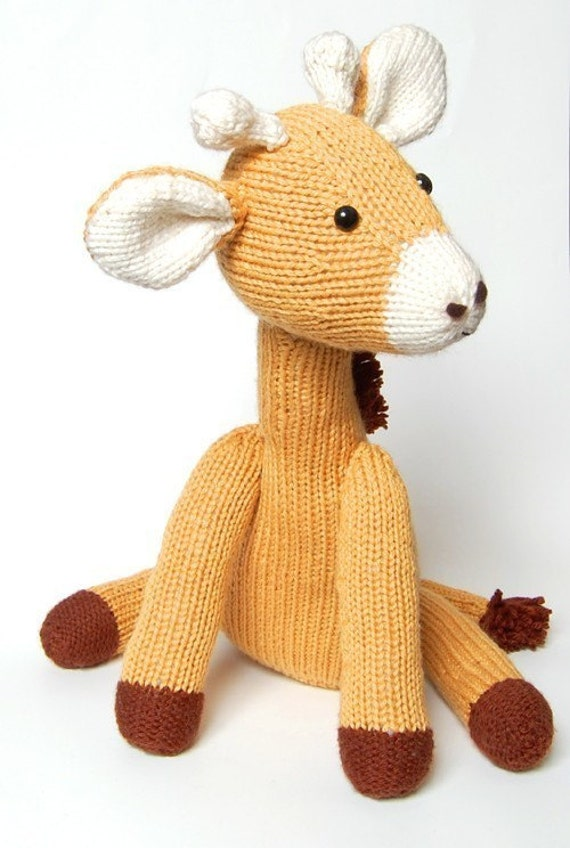 NEW PDF Knitting Pattern for Jasmine the Giraffe Instant