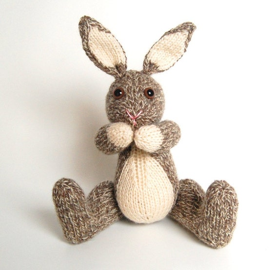 Knitted Rabbit Pattern Free : Items similar to NEW PDF - Knitting Pattern for Boris the Bunny Rabbit - Inst...