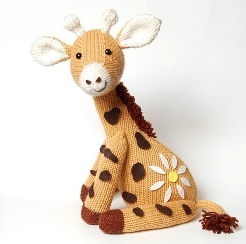 Knitting Pattern Toy Giraffe : NEW PDF Knitting Pattern for Jasmine the Giraffe Instant