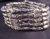 Vintage Bracelet, Vintage Necklace, Vintage Magnetic Bead Bracelet and Necklace