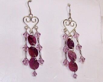 Purple, Purple Earrings  272