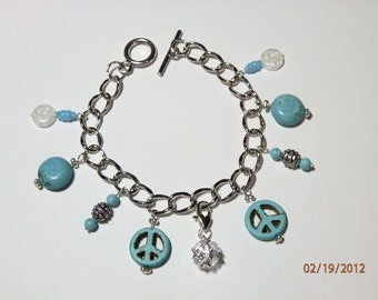 Turquoise Heaven Charm Bracelet   285