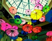 Colorful Umbrellas,  fine art photo,  paper wall art, home decor, digital photo, colorful, abstract art
